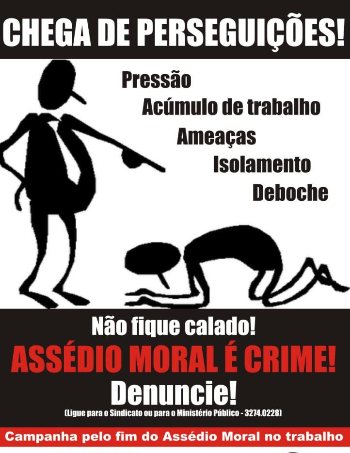 Cartaz Campanha assedio moral - ceara-mirim