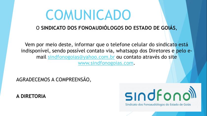 Comunicado sem celular 2018