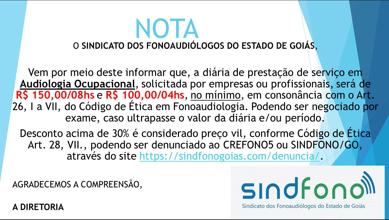 preço em audiologia diária 02.10.2018